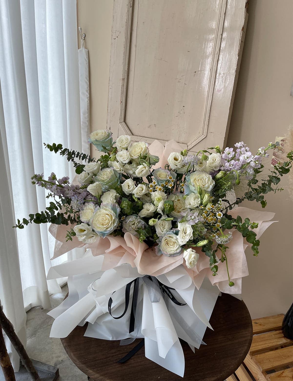 korean style flower bouquet malaysia